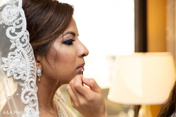 indian bride,maharani,makeup,getting ready