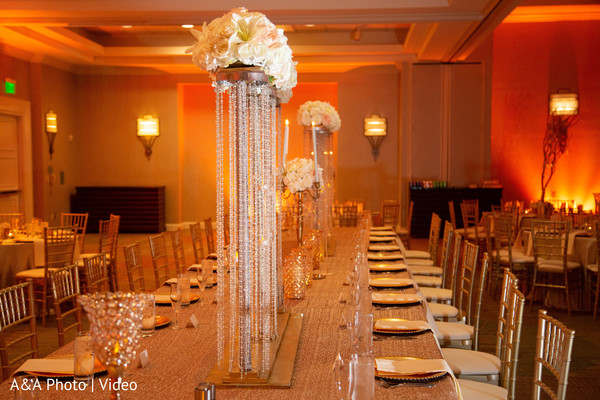 Beautiful decoration of the reception