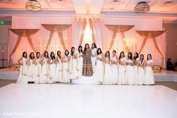 Maharani posing with bridesmaids