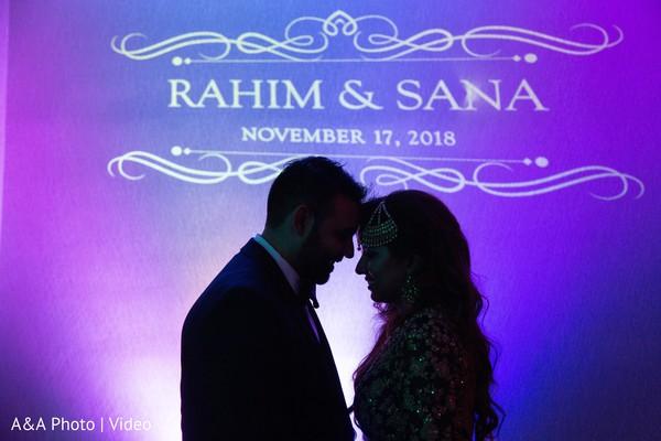Stunning capture of the newlyweds