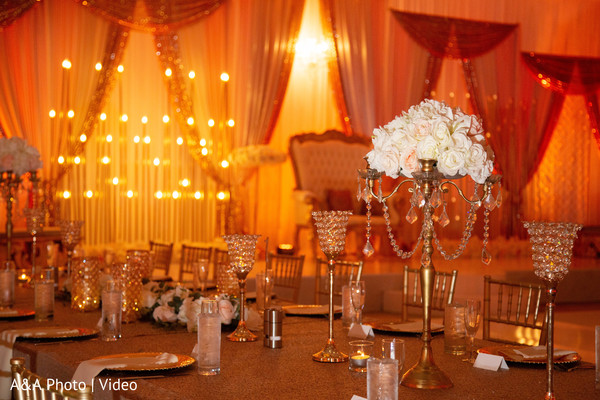Incredible decoration details of the reception