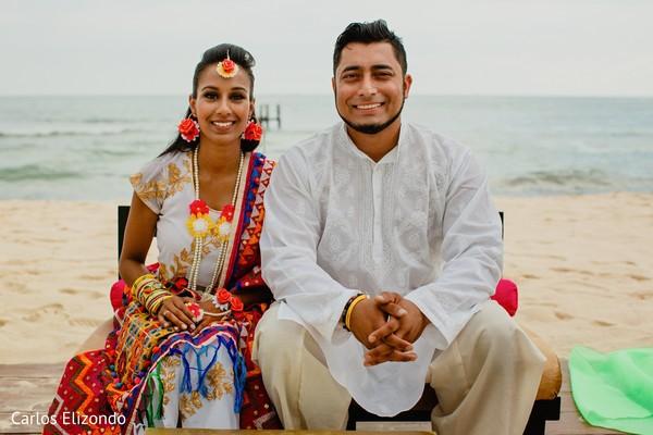 Indian bride and groom looking incredible