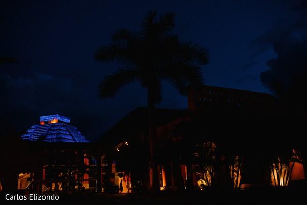 Light decorating the venue