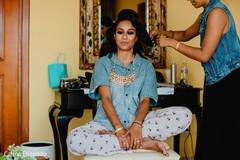 Maharani having her makeup done