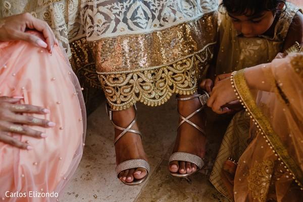 Maharani's shoe details