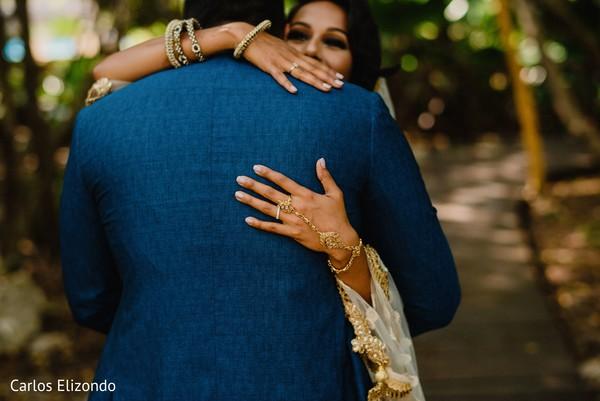 Maharani hugging the Indian groom