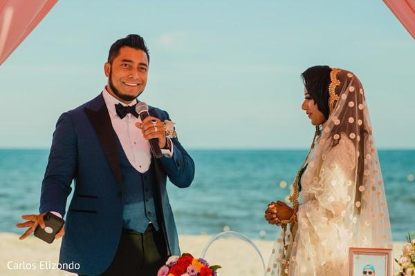 Indian groom delivering some words