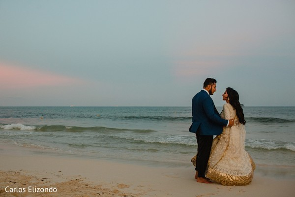 Gorgeous couple by the sea