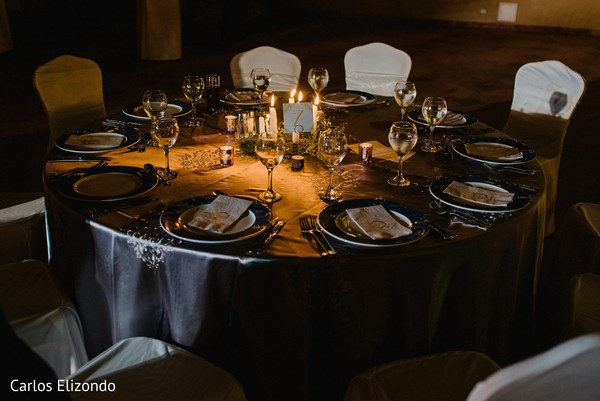 Detail of the table setup