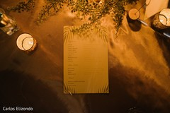 See this menu design for the reception