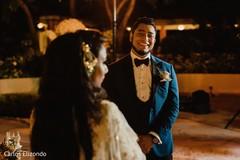 Indian groom staring at the Maharani
