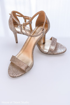 Incredible Indian bridal ceremony high heel shoes.