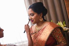 Majestic indian bridal makeup.