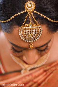 Stunning Indian bridal tikka.