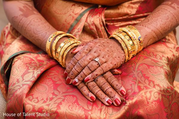 Closeup capture of Indian bridal mehndi art.
