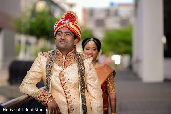 Lovely Indian groom about to meet his bride.