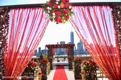 Marvelous Indian wedding ceremony roses decoration.