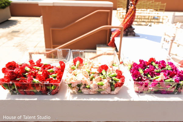 Wonderful Indian wedding ceremony carnation flowers decor.