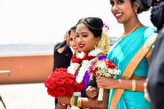 See this lovely Indian bride making her entrance to ceremony.
