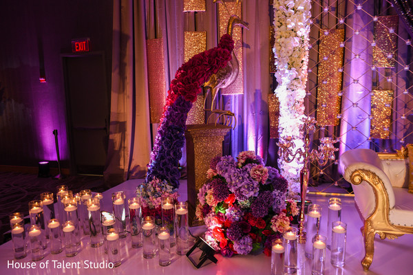 Fascinating Indian wedding stage flowers decoration.