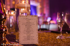 Indian wedding reception menu guide.