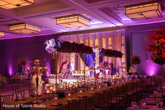 Marvelous Indian wedding flowers and lights decoration.