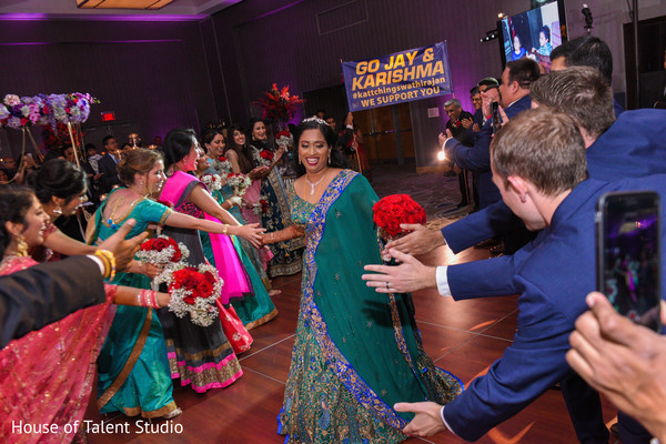 Marvelous indian bridal reception entrance.