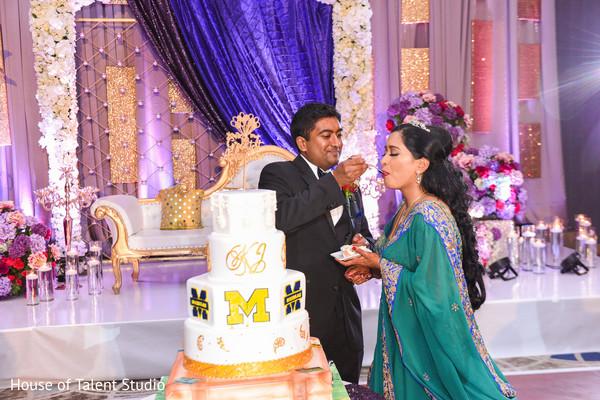 Insanely cute cake cutting scene.