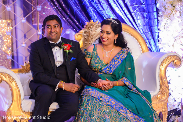 Indian wedding reception moments.