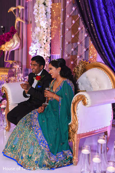 Indian couple's reception cheers moment.