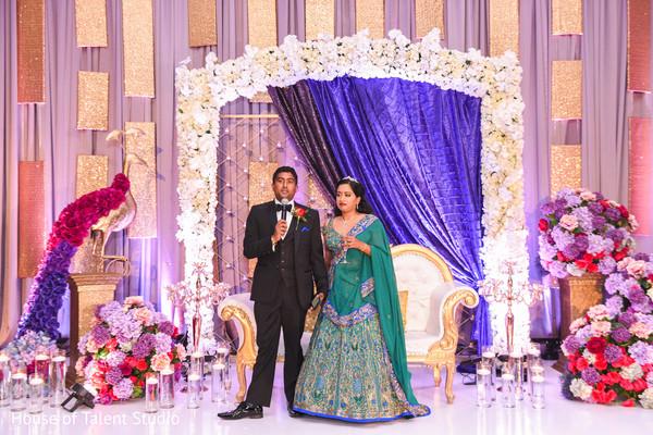 Indian groom's speech moment capture.