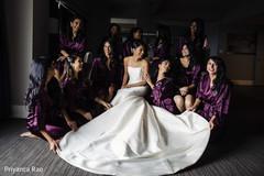 Maharani and bridesmaids having a laugh