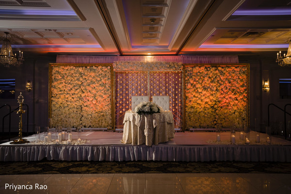 Indian wedding stage prior to the reception