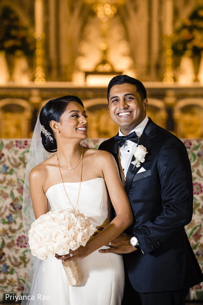 Indian bride and groom's lovely portrait