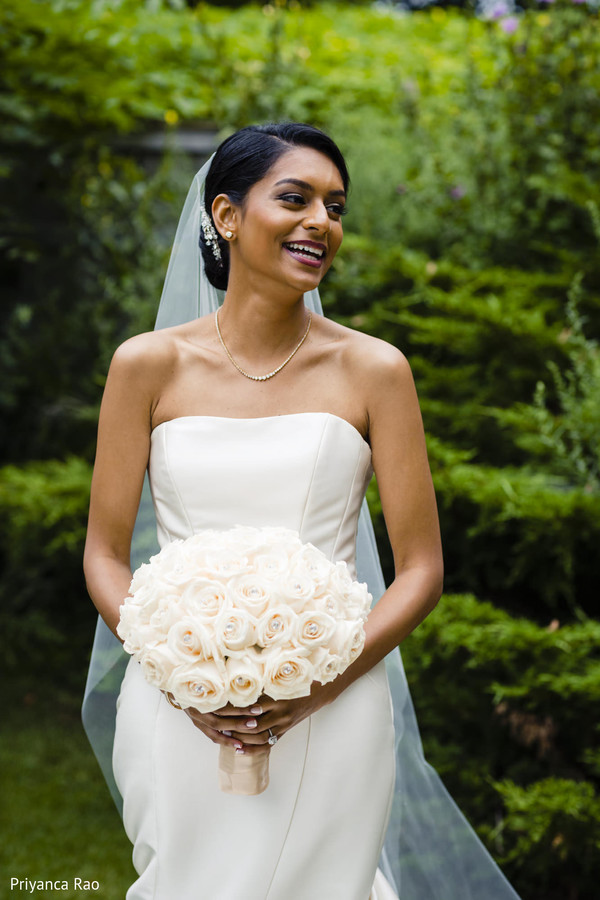 Indian bride looking beautiful outdoors