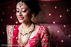Incredible Indian bridal ceremony makeup.