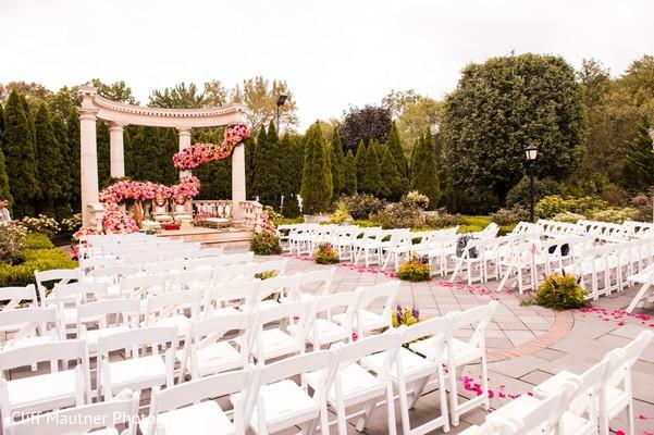 indian wedding ceremony decor,seats setup,flowers decor
