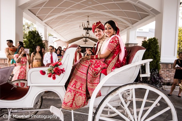 Lovely Indian couple capture on their carriage.
