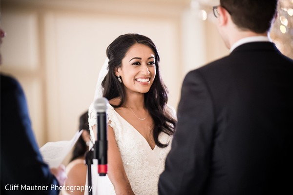 Lovely Indian bride on her ceremony capture.