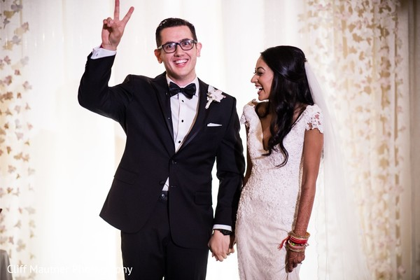 Joyful Indian groom's capture.