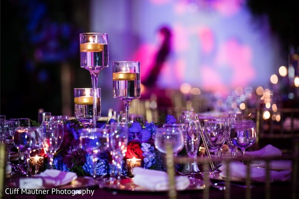Dreamy Indian reception table candle decoration.