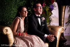 Adorable indian couple during reception