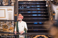 Indian groom at the venue