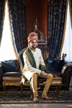 Indian groom posing for the photo shoot