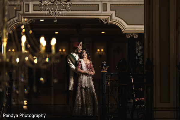 Dazzling shot of the Indian couple