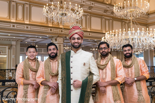 Indian groom and special guests