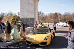 Indian groom arriving with his ride