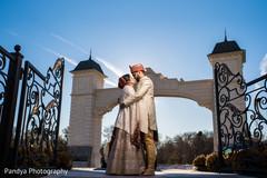 Maharani and Raja having a romantic outdoor moment