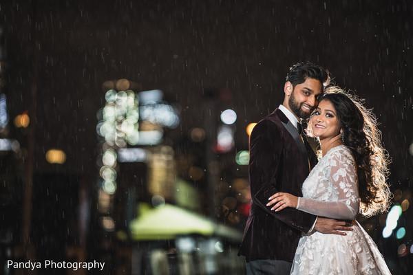 Indian bride and groom looking fantastic
