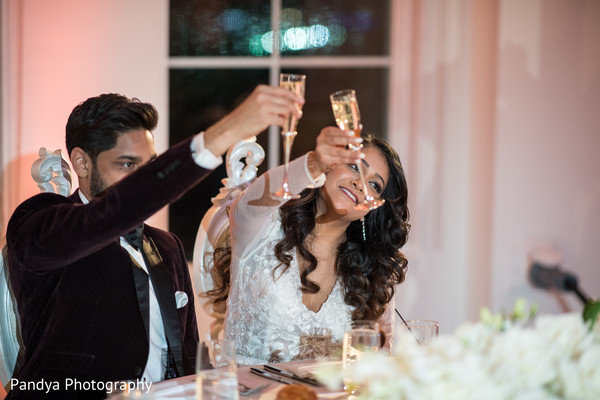 Maharani and Raja toasting